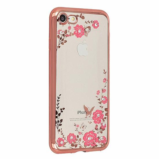 Zadní silikonové pouzdro obal Flower case Huawei Mate 10 Lite růžový ... ae6a262428b