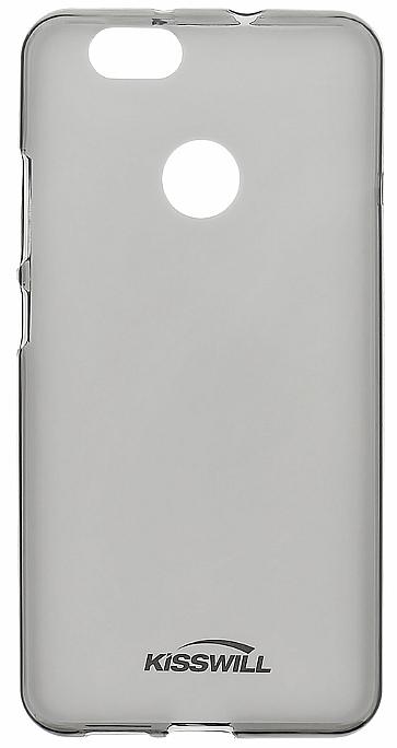 Zadní silikonové pouzdro   obal Huawei Y6 (2017) průhledné tmavé ... da299c7d853