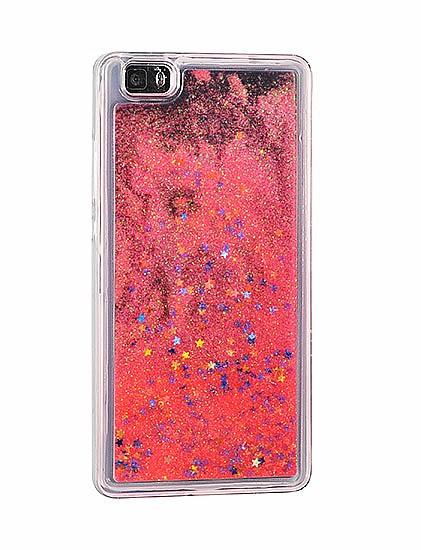 Silikonový obal kryt Water case stars pro Iphone X červený  13082a03047
