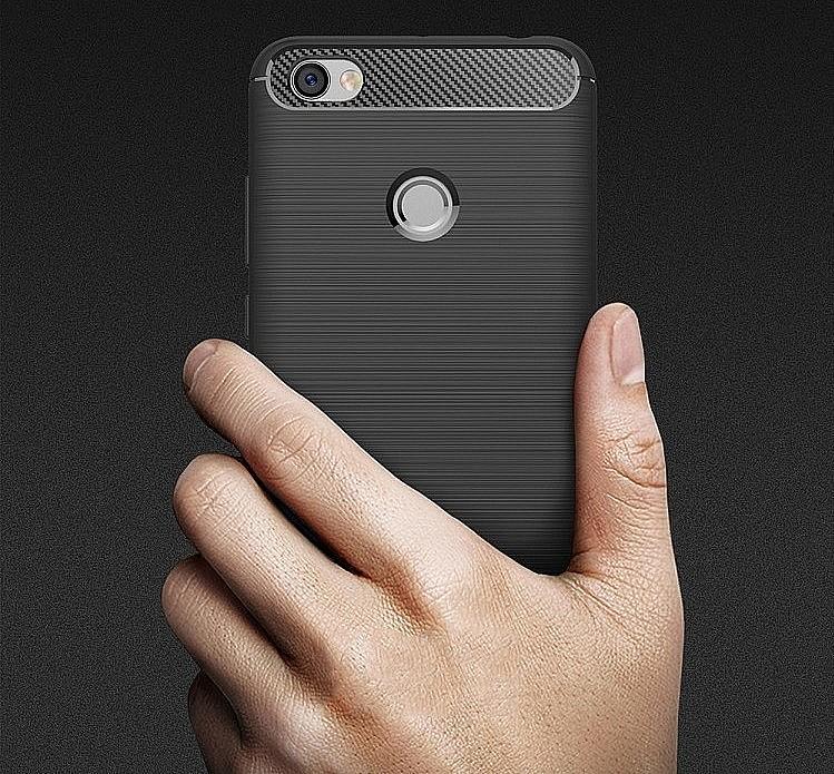 Gumový kryt se vzorem karbonu a leštěného kovu pro LG K4 2017